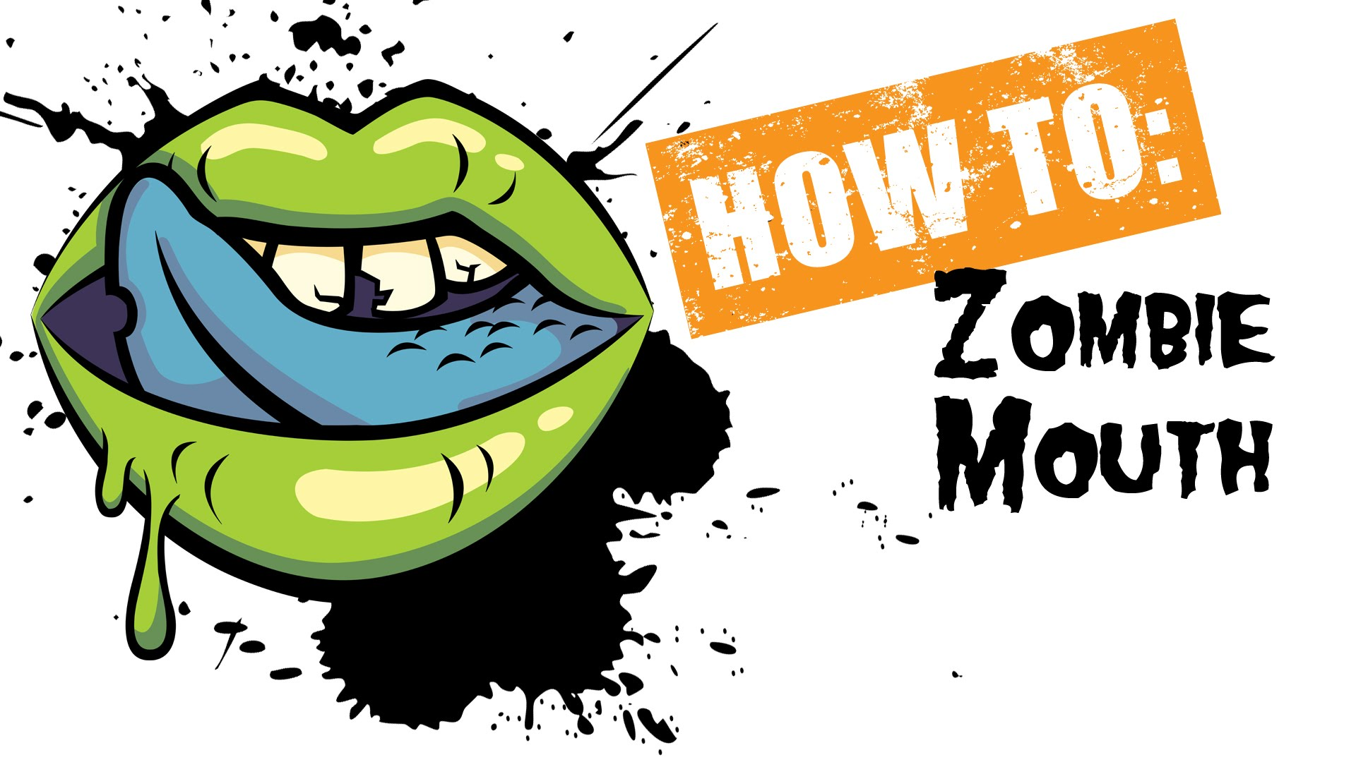 Zombie clipart mouth #7