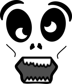 Zombie clipart mouth #3