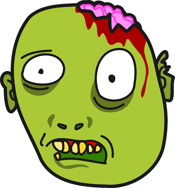 Zombie clipart mouth #11