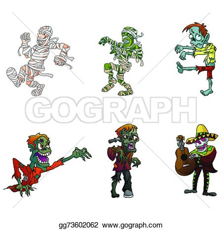 Zombie clipart mummy Clipart Illustration Vector mummy