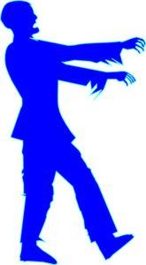 Zombie clipart public domain De Vector Blue ideas online