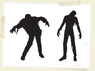 Zombie clipart public domain Vectors Free  Clipart Sets