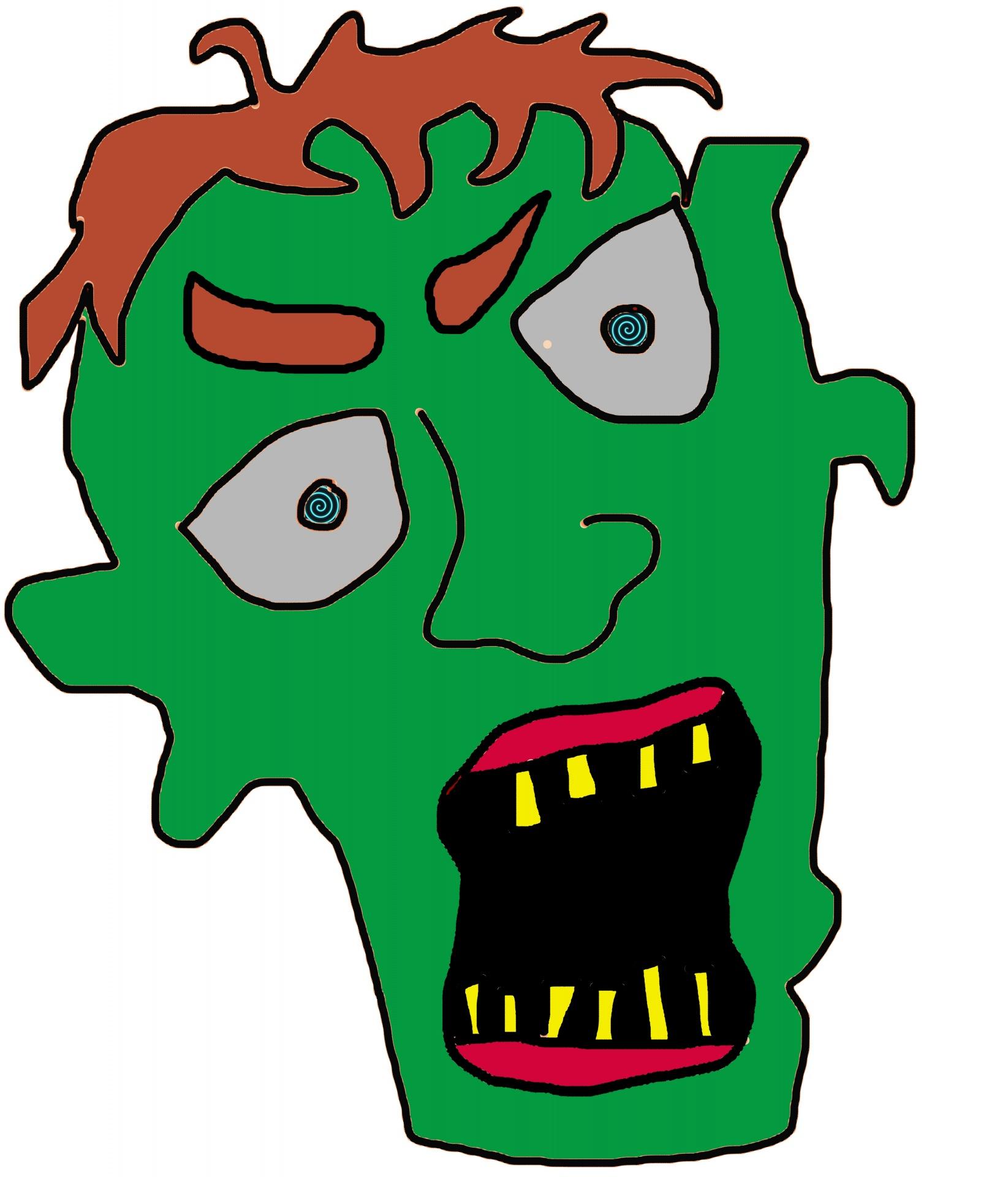 Zombie clipart public domain Zombie Stock Public Head Pictures