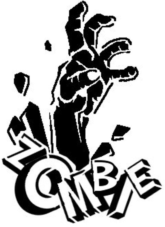 Zombie clipart pumpkin Pinterest  Stencil Hand Hand