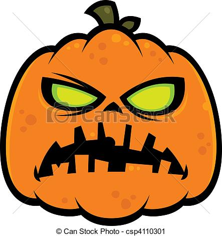 Zombie clipart pumpkin Illustration Clip of csp4110301 Pumpkin