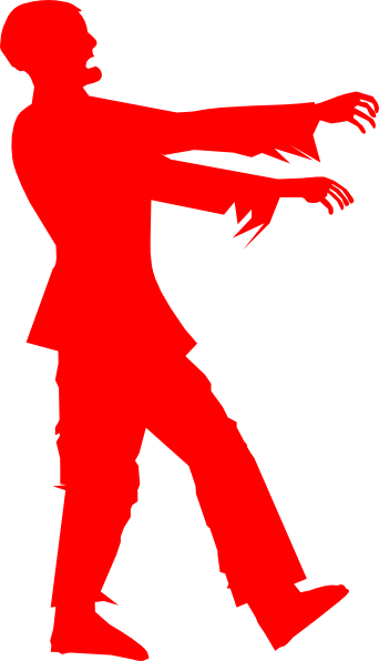 Zombie clipart red #8