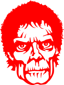 Zombie clipart red #9