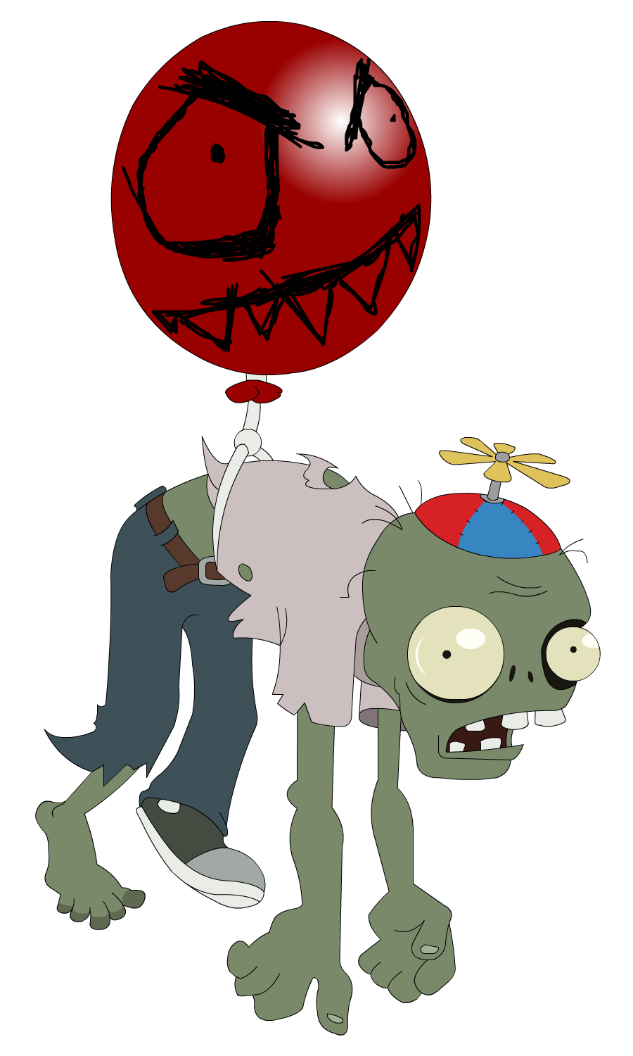 Zombie clipart red #5