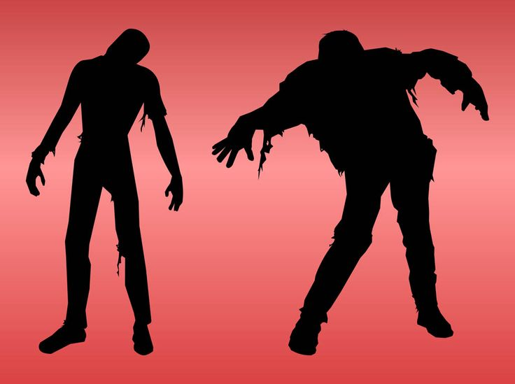 Zombie clipart red #13
