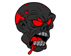 Zombie clipart red #6