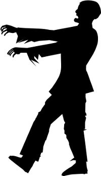 Zombie clipart shadow #5