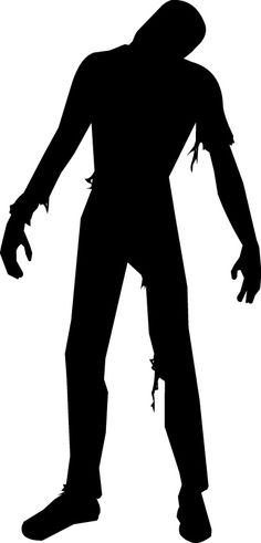 Zombie clipart silhouette Personal wall silhouette Use Digital