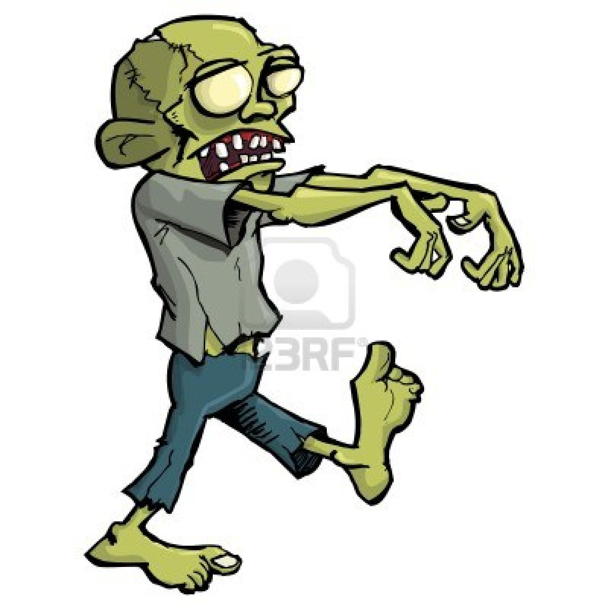 Zombie clipart silly On Of Cartoon Zombie Use