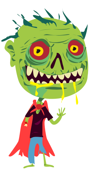 Zombie clipart silly 2 clipart zombie Silly kid