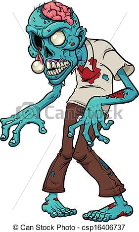 Zombie clipart simple  zombie Vector with Zombie