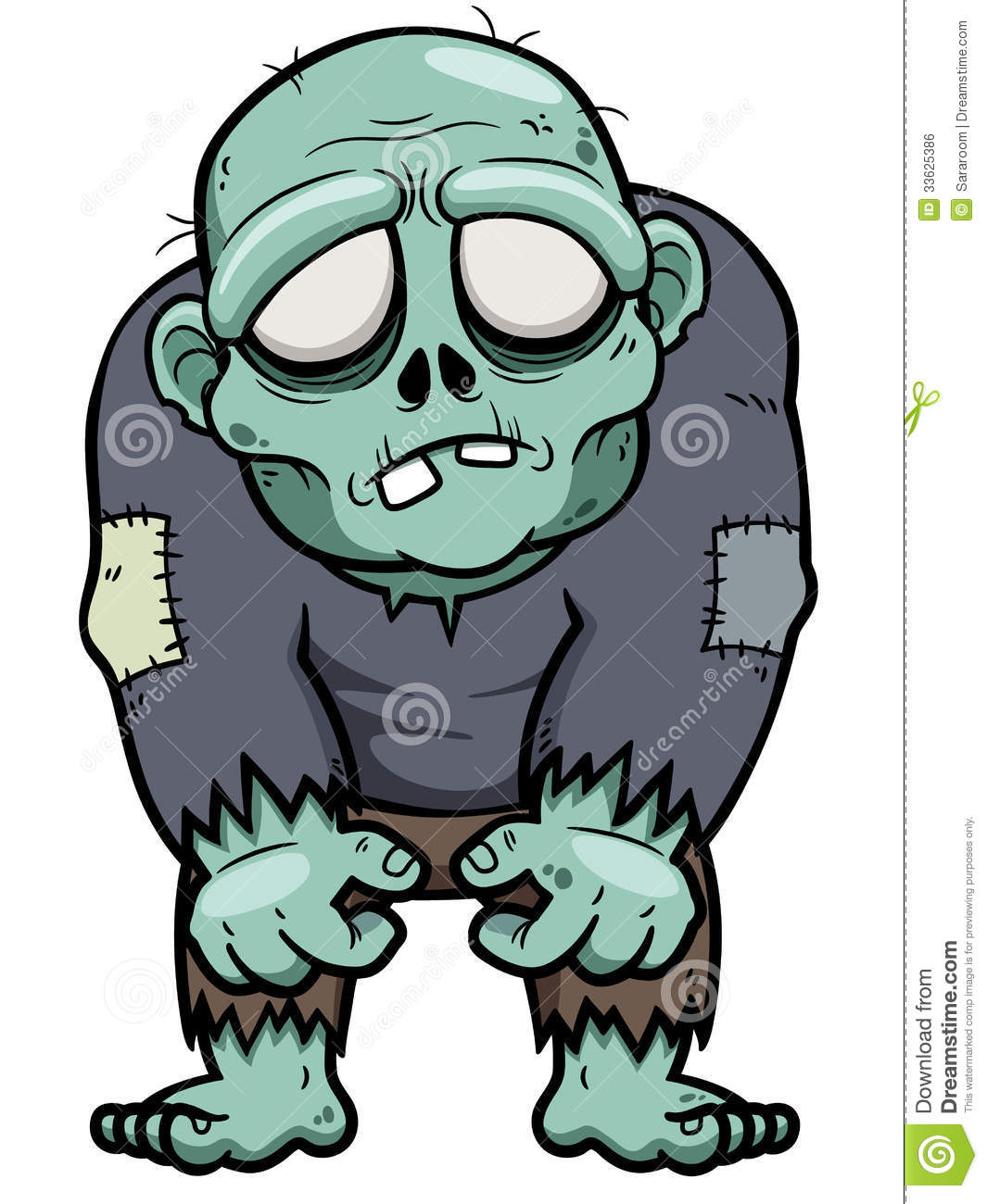 Zombie clipart simple cartoon Search Search illustration zombie Pinterest