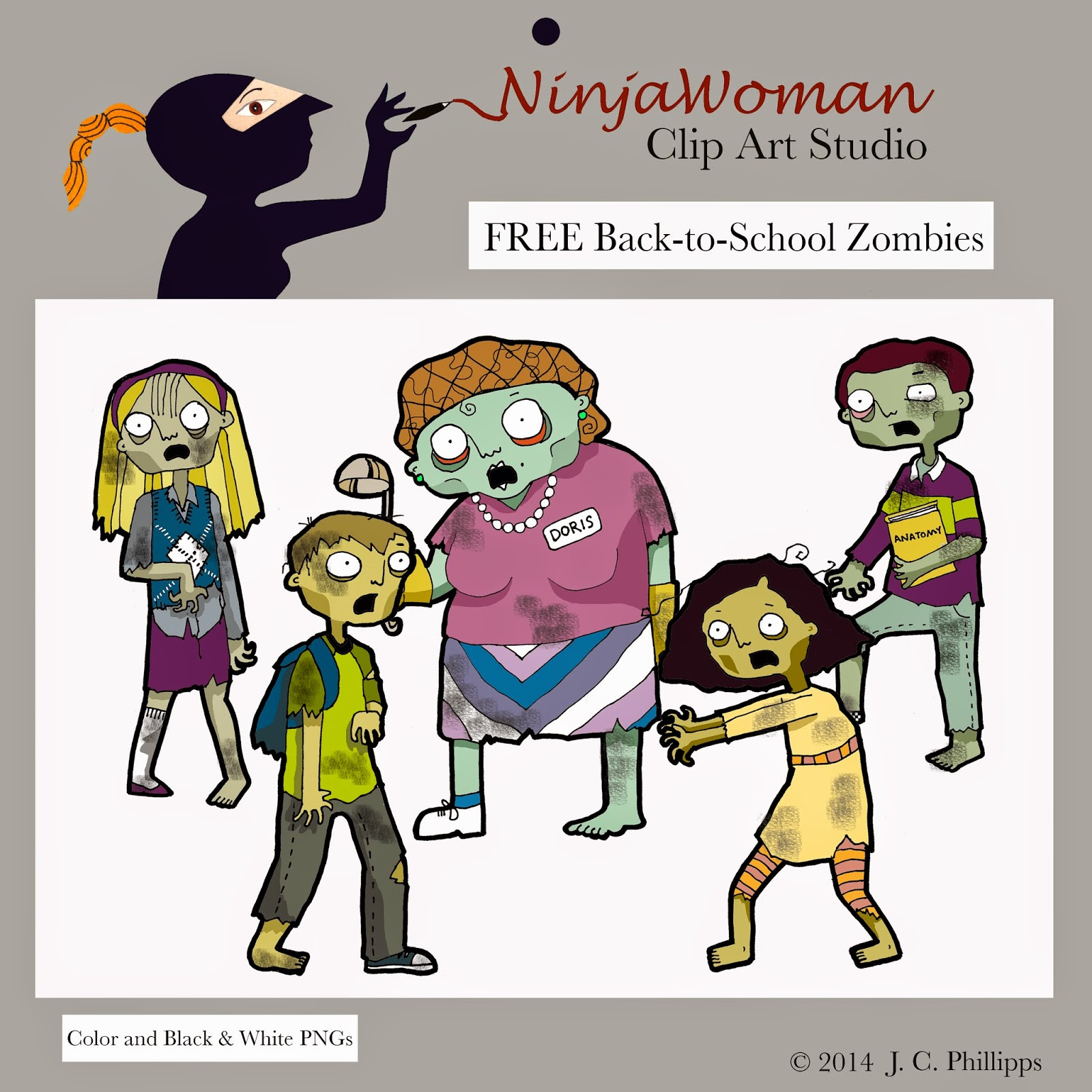 Zombie clipart teacher Enjoy Clip fuller Woman: complied