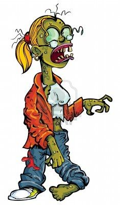 Zombie clipart teacher White Zombie Stock on grasping