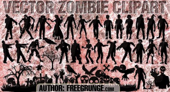Zombie clipart vector #4