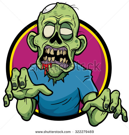 Zombie clipart vector  vector illustration zombie of