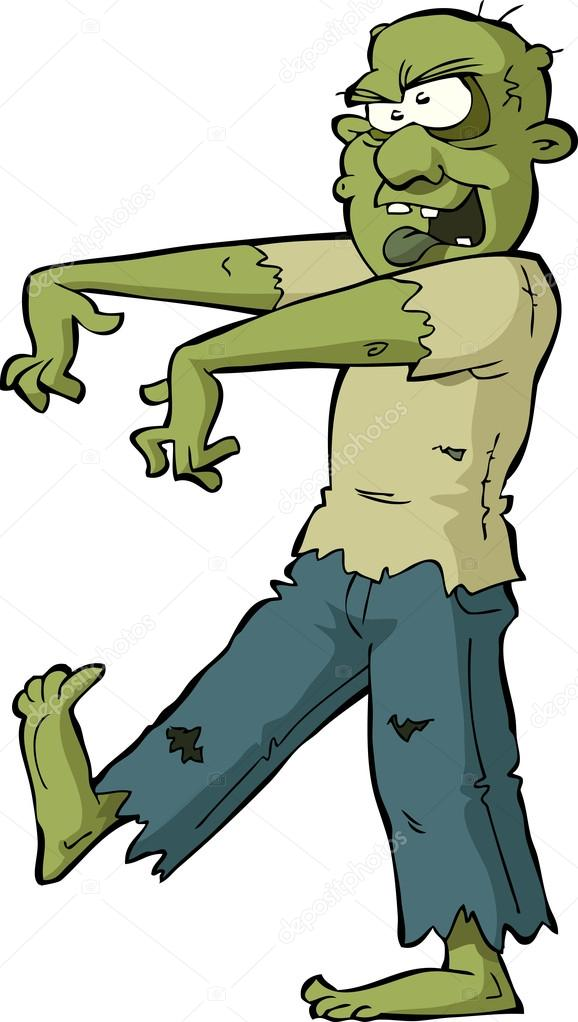 Zombie clipart walking DedMazay background white on —