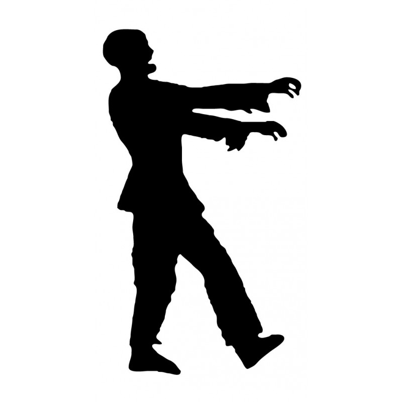 Zombie clipart walking 024 Dead Zombie  Decal