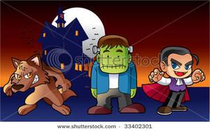 Zombie clipart werewolf Cartoon A Zombie a Vampire