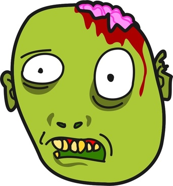 Zombie clipart zombie face Zombies Cartoon  Zombi/zombie free