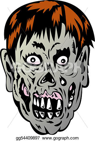 Zombie clipart zombie face Clipart Drawing Illustration face