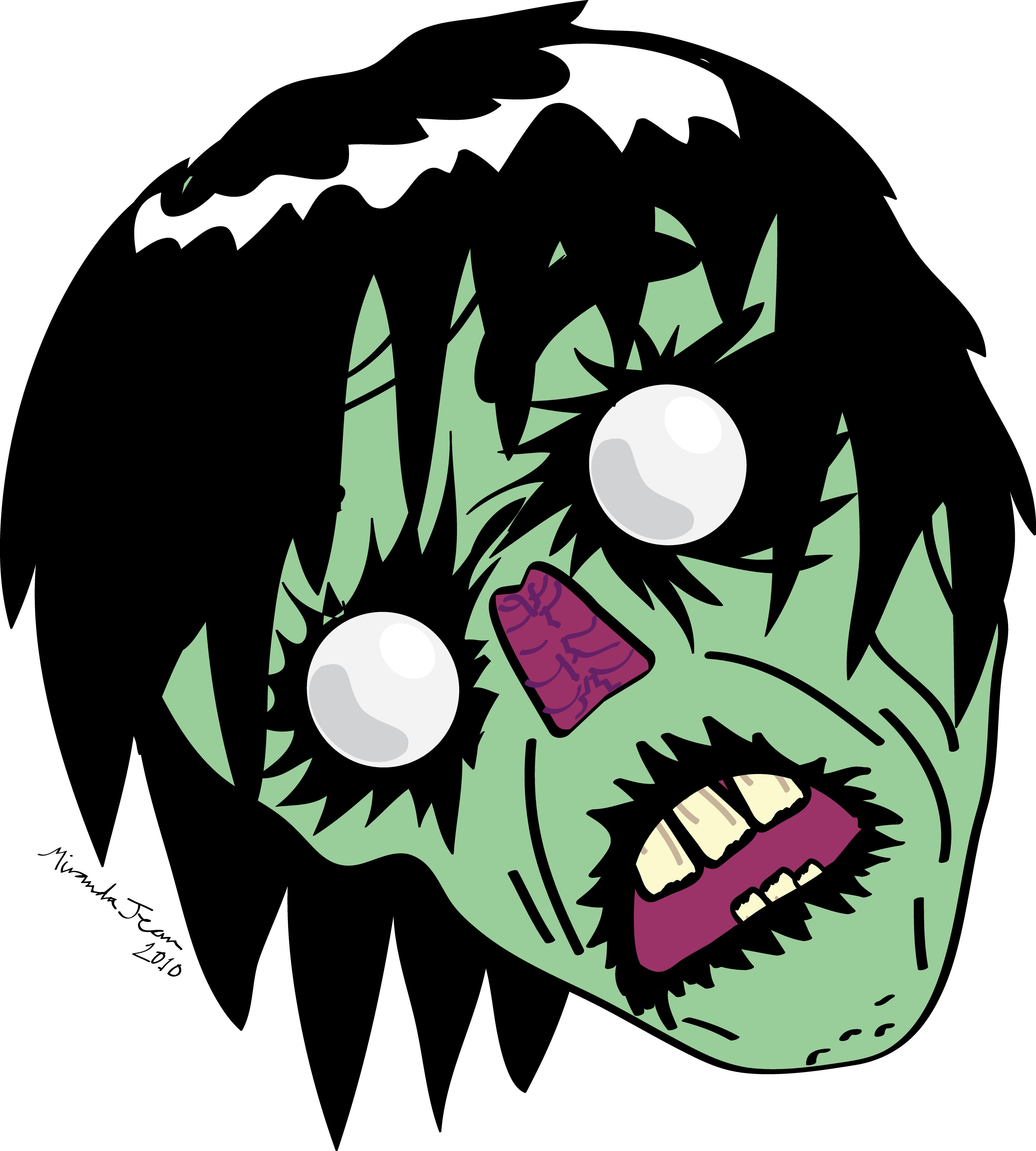 Zombie clipart zombie head 2 Head by Zombie Fluffgar