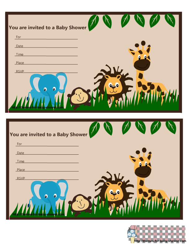 Zoo clipart zoologist Shower animal baby invitations Invitations