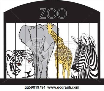 Zoo clipart black and white Free Panda Zoo Free