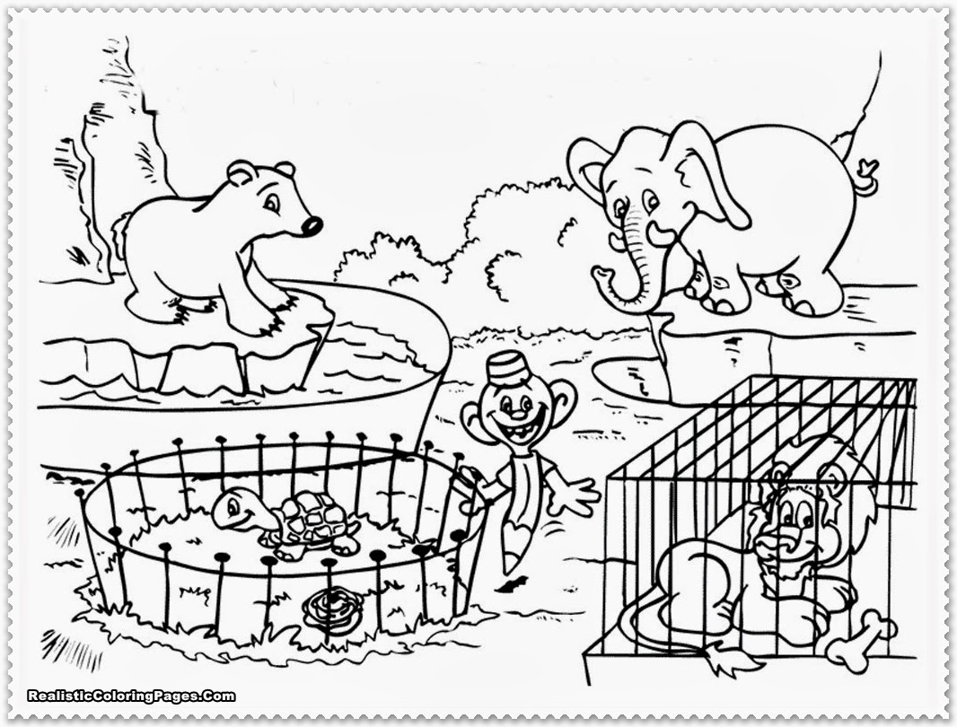Zoo clipart black and white Zoo and – clipart Download