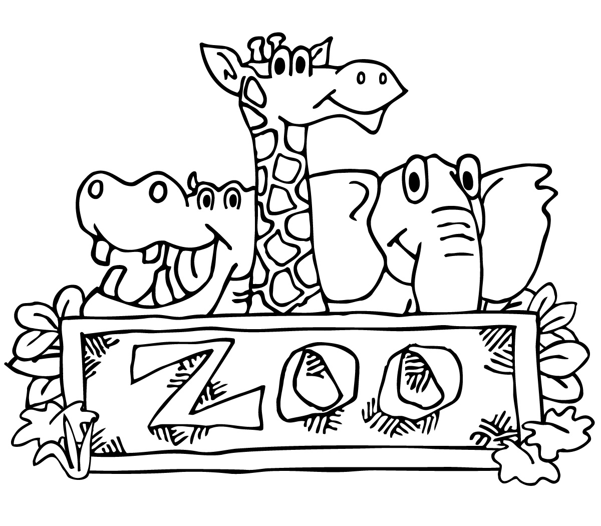 Zoo clipart black and white White clipart Zoo collection Black