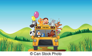 Zoo clipart bus And illustration 89 Illustrations various