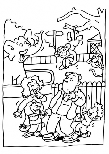 Zoo clipart coloring page (2) Pages Coloring Pages Coloring