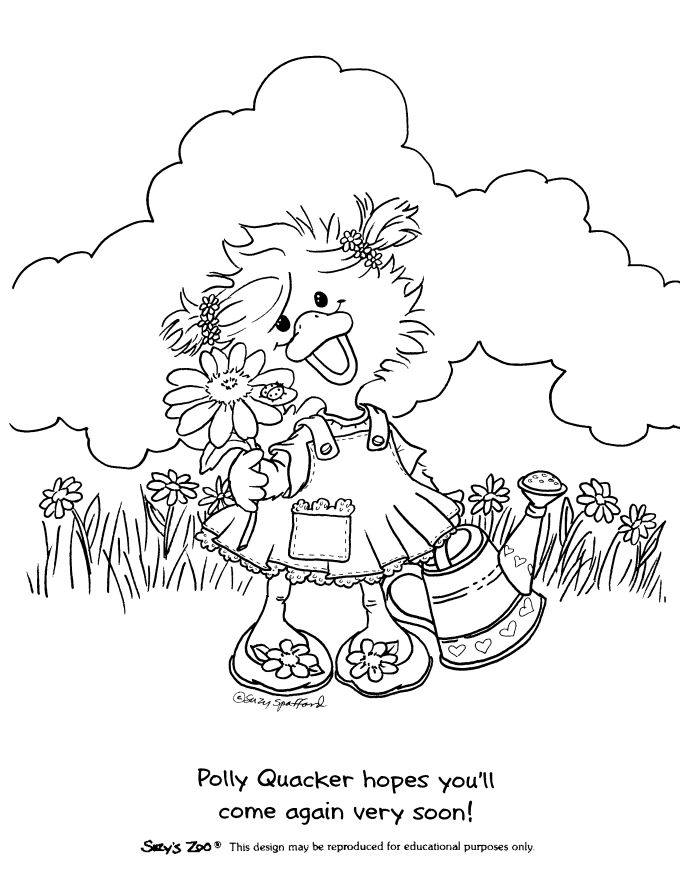 Zoo clipart coloring page Pinterest BookColouringDigital TherapyStitchesMandalasDrawings · Suzy