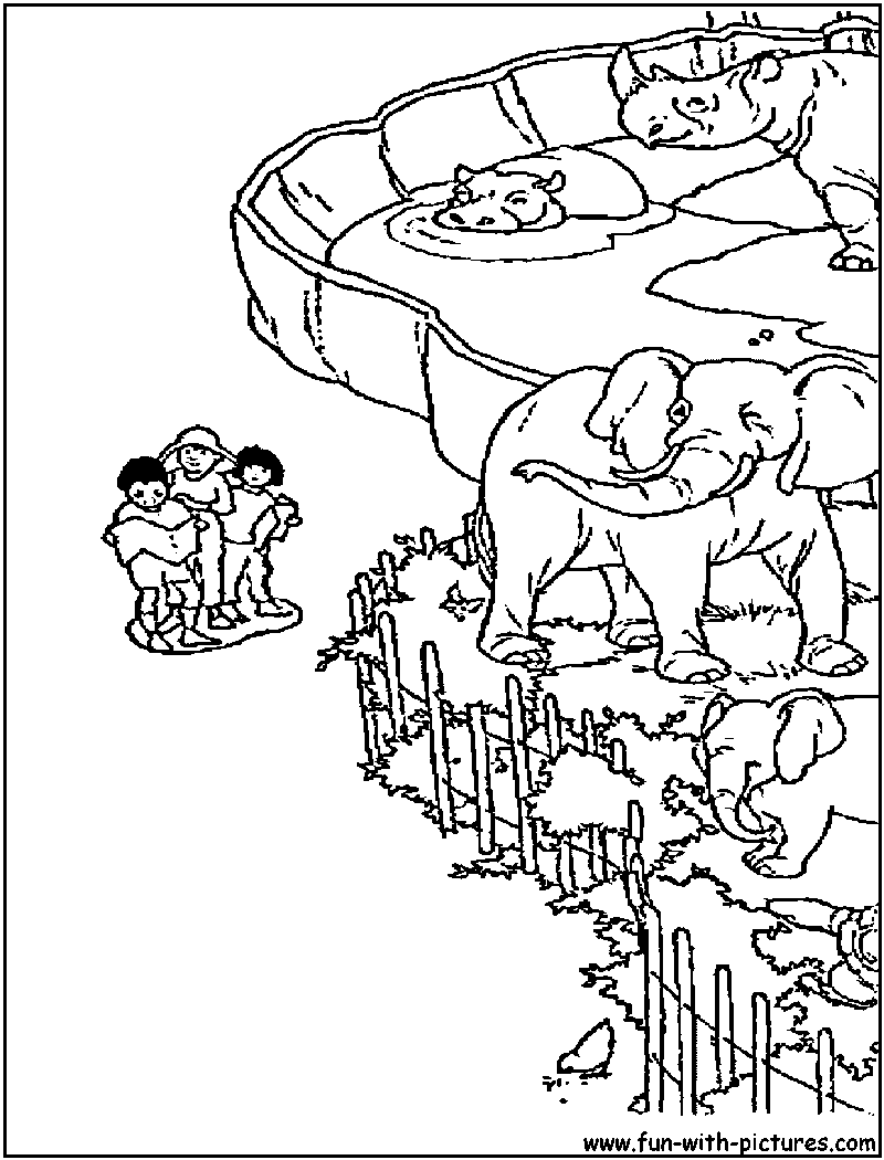 Zoo clipart coloring page Zoo Pages Coloring for Pages