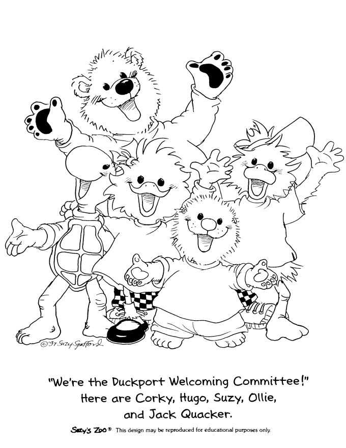Zoo clipart coloring page Zoo 16 images Zoo on