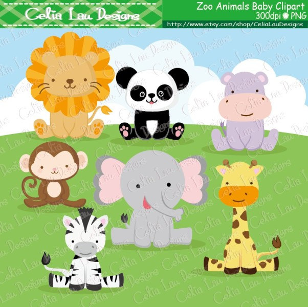 Zoo clipart cute animal Clip Clipart art background Clip