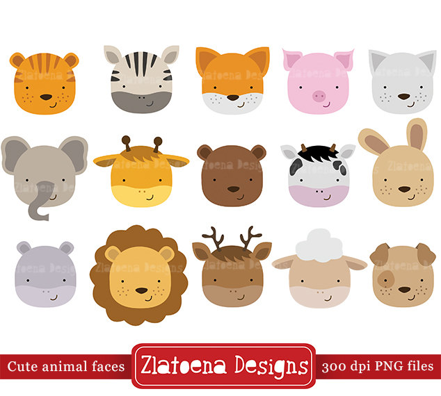 Zoo clipart cute animal File Zoo digital a Faces