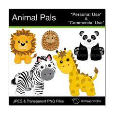 Zoo clipart door 8 Adventures giraffe dieren graphics