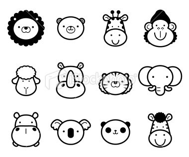 Zoo clipart easy animal Royalty Free Royalty and Set: