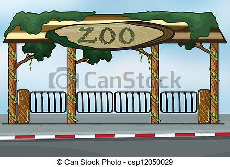 Zoo clipart entrance sign A  A csp12050029 Illustration