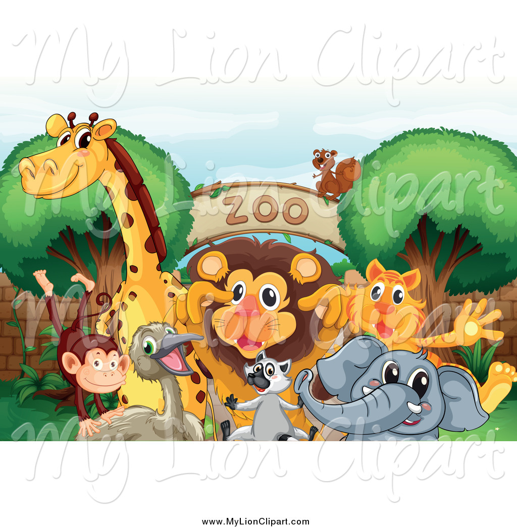 Zoo clipart entrance sign Lion Zoo Entrance Gathered a