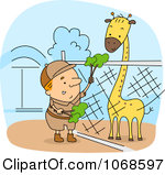 Zoo clipart feeding  Clipart Feeding Keeper Zoo