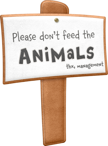 Zoo clipart feeding Please  Clipart sign Zoo