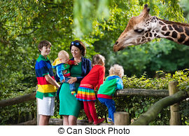 Zoo clipart feeding The at feeding and kids
