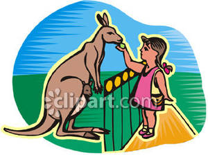 Zoo clipart feeding Royalty Picture Royalty Free Girl