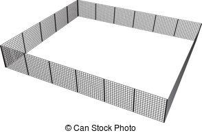 Cage clipart fence Enclosure  rectangular Closed mesh